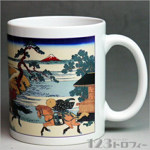 陶器製マグカップ 冨嶽三十六景 隅田川関屋の里の商品画像