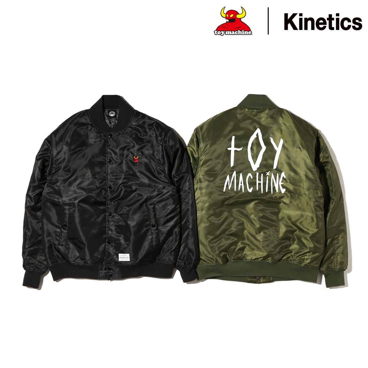 TOY MACHINE × Kinetics MONSTER Stadium Jacket (2色展開) (トイマシーン キネティクス モンスター スタジャン) 【メンズサイズ】【16HO-I】