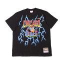 ショッピングLIGHTNING Mitchell & Ness LIGHTNING TEE/CHICAGO BULLS(BLACK)(ミッチェルアンドネス ライトニング Tシャツ/シカゴ ブルズ)【メンズ】【半袖Tシャツ】【19FW-S】