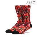 UBIQ SOCKS -Cherry-(BLACK)(ユービ...