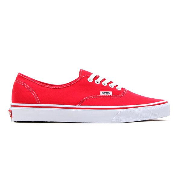 VANS AUTHENTIC (RED)(バンズ オーセンティック)【Kinetics】【ユニセックス】【キャンバス】【スケートボード】【SK8】【ストリート】【スニーカー】【15SS-U】
