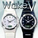 在庫あり!!【送料無料】Wake V ウエイクV ブラック 強力振動目覚まし腕時計