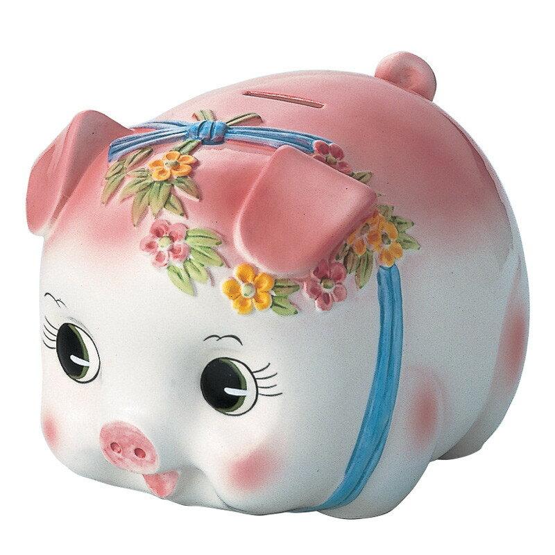 在庫あり!!【送料無料】ピギーバンク 豚 貯金箱 特大 S0059 ピンク ぶたちゃんの貯金箱 豚バンク