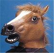 ショッピングコスプレ 在庫あり!!【送料490円】アニマルマスク サラブレッド 馬 動物の被り物 マスク コスプレ