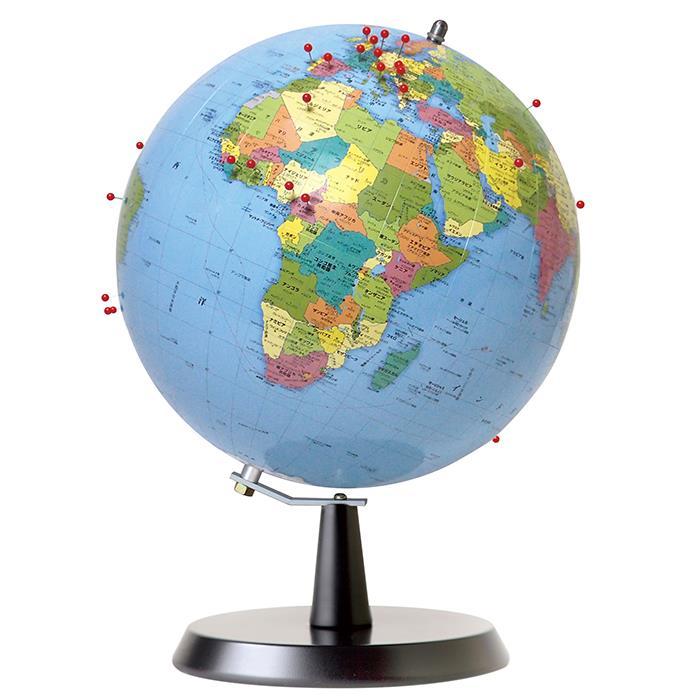 《新品》 WATANABE 渡辺教具製作所 地球儀 ピンマーク 行政タイプ (No.2402) 【送料無料】【ラッピング無料】【smtb-f】