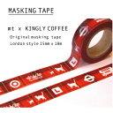 ショッピングマスキングテープ London style マスキングテープ【KINGLY COFFEE】
