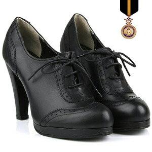 / 皮靴子婦女 / 短 / 短靴子高跟鞋 !手工生產 / 贓物、 花邊、 高高跟鞋 / 黑色 / 簡單 / ☆ 簡單的黑色贓物她