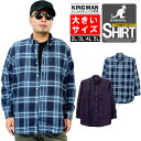カンゴール(KANGOL) チェックシャツ メンズ 大きいサイズ ツイル 起毛 ボタンダウン 長袖シャツ ワークシャツ 春 青 赤 長袖 シャツ チェック柄 ネルシャツ アメカジ きれいめ 綿 ストリート系