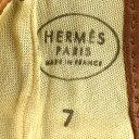 エルメス HERMES メドール 手袋 #7 ブラウン スエード×ラム レディース 手袋 mo 【中古】