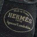 エルメス HERMES チェーン グローブ #7 ブラック ラムスキン レディース 手袋 mo 【中古】