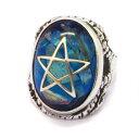 ALEX STREETER(アレックスストリーター)  ANGEL HEART RING BLUE エンジェルハートリング クラックブルー ALR371C BLUE