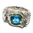 BWL(ビルウォールレザー)R415 Wolf Edition Ring Custom Blue Topaz ウルフエディション ブルートパーズ