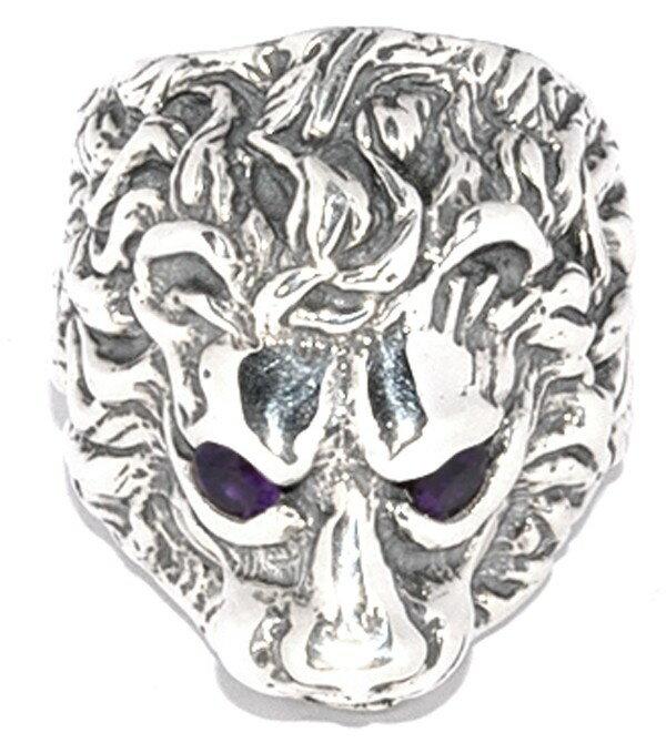 BWL(ビルウォールレザー) ライオンリングウィズストーンアイズ Lion Ring w/Stone eyes R395S 送料無料!!