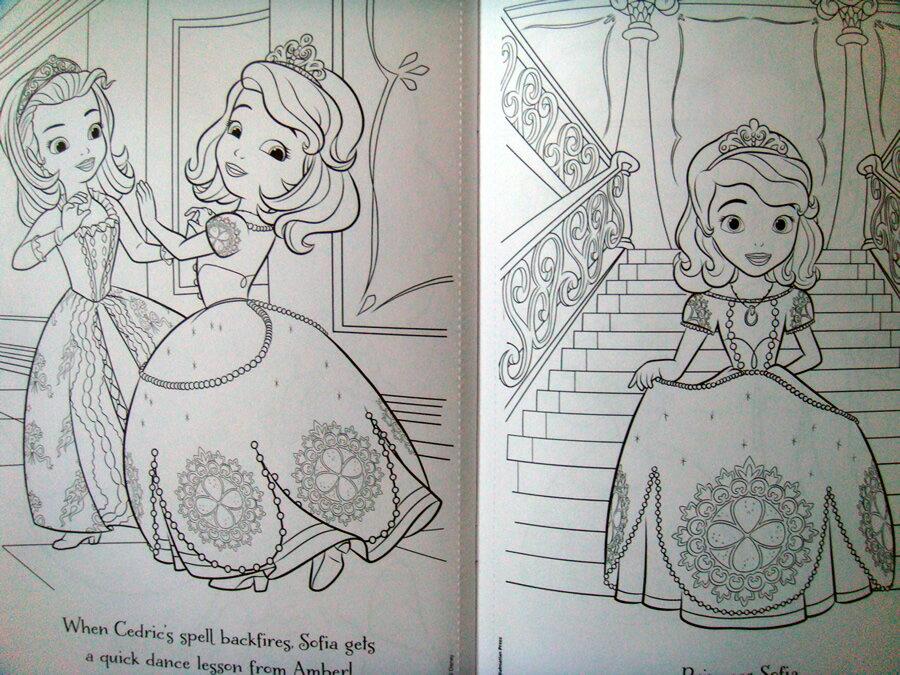 ディズニー「ちいさなプリンセス ソフィア」 ぬりえシールブック「愛すべきプリンセス」 [Disney/Sofia the First/A Lovable Princess/英語]