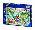 ディズニー ジグソーパズル 1000ピース 世界地図 (Disney/ Ravensburger Puzzle/15785)