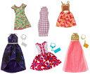 バービー ファッションパック 6着セットプラス6アクセサリー /洋服 かばん ネックレス (Barbie Fashions Pack, 12 Pieces / MATTEL/FJD76)