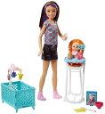 バービー 「スキッパーのベビーシッター」ドール(2体) お食事セット3 (Barbie Babysitting Playset with Skipper Doll, Color-Change Baby Doll, High Chair /FHY98 /MATTEL社/バービー人形,ハウス)