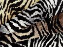 生地 綿ツイルプリント《虎柄》【30cmから販売 メール便2mまで】【コットン/布/布地/虎/トラ/タイガー/アニマル/動物柄】(SA21)