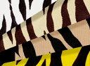 生地 綿ツイル《ゼブラ柄》【30cmから販売 メール便は2mまで可】【布地/布/アニマル柄/動物柄生地/シマウマ/縞馬】(SA21)