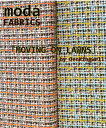 【ポイント10倍】生地 モダUSAファブリックJenkingwellによる《MOVING ON LAWNS》綿ローン≪格子柄 チェック柄≫【50cm単位販売】【...