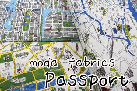 【ポイント10倍】生地 USAファブリック(モダ/moda fabrics)シティーマップ3都市【50cm単位販売 メール便3mまでOK】【綿100%/布地/布/マップ/地図/花柄/パスポート/USAコットン】(MA23)