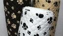 生地【キルティング】犬の足跡柄【30cmから販売 メール便は50cmまで】【布/布地/キルト】【あし
