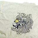 ショッピング作務衣 敬老の日 お誕生日 ギフト 宝珠 龍 刺繍 甚平 メンズ 背中に黄金の珠を持つ 龍の刺繍甚平(じんべい)★白杢 クールでかっこいい 差をつけるなら刺繍甚平Cool Japan クールジャパン