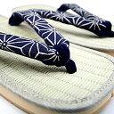 ショッピング作務衣 雪駄 せった 藍染 鼻緒 江戸小紋シリーズ■麻の葉A柄■日本製(〜26cm) 甚平 作務衣 浴衣 と一緒に