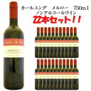 【送料無料】 カールユング メルロー 750ml 22本セット 【アルコール0.5%】