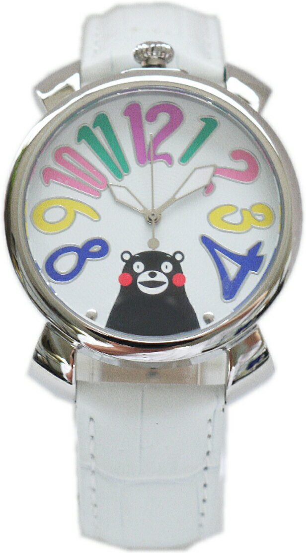 くまもんの腕時計が、ガガミラノ風モデルになって登場!ちょっと大きめだけど、インパクトのある時計です。遊び心たっぷりのくまモン腕時計で目立っちゃおう!