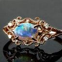 オパール ダイヤモンド 10K ピンクゴールド ホワイト