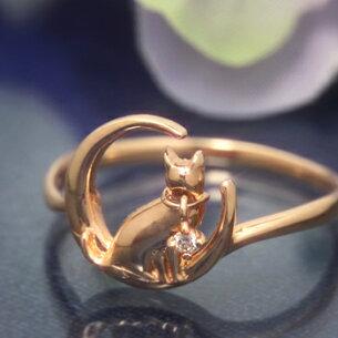 レディース ダイヤモンド アニマルジュエリー ゴールド ホワイト