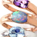 オーストラリア産オパール 10K ゴールド リング レディース 指輪・フィアナ 大粒 ピンクゴールド ホワイトゴールド 10金 K10 ボリューム 人気 おしゃれ シンプル 指輪 太め ファッションリング 可愛い ゆびわ ジュエリー 一粒リング 10月誕生石