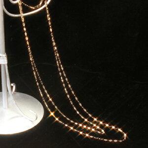 ネックレス ゴールド イタリア製 チェーンロングネックレス・ルミリージュ ロングチェーンネックレス ホワイト