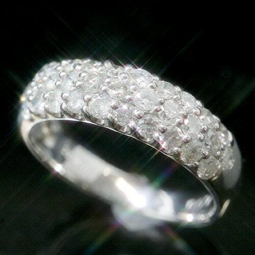 1.0ctダイヤモンド プラチナリング レディース 指輪・ラヴィエベル【レビュー好評】華やか パヴェリング 大人気 誕生日プレゼント 女性 ファッションリング 可愛い ゆびわ Pt900 ボリューム ゴージャス おすすめ 1カラット 婚約指輪 結婚指輪 ジュエリー クリスマス