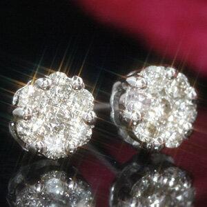 ダイヤモンド ホワイト ゴールド イエローゴールドピアス・ディマンジュ レディース シンプル