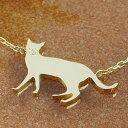 猫 ねこ ネックレス レディース ジュエリー ダイヤモンド・ミュシャキャット K10 10K 10金 ピンクゴールド ゴールド ホワイトゴールド ペンダント 動物 華奢 シンプル モチーフ 可愛い 猫の日 誕生日プレゼント 女性