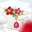 【赤椿】リング 10K ゴールド・カメリアン 椿の花 ツバキ フラワーモチーフ 着物 和服 アクセサ