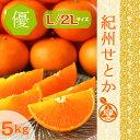 ◆紀州せとか【ご家庭用】◆  最上級の食味「せとか」とろける甘味!【優品】 少し訳あり L/2Lサイズ 5kg和歌山みか…