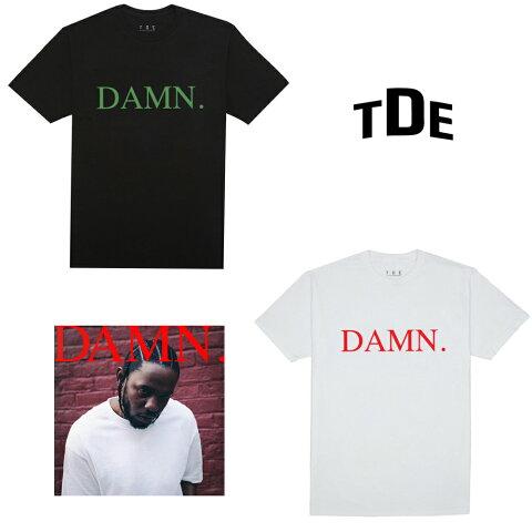 【在庫極小】TDE DAMN. tシャツ KENDRICK LAMAR DAMN. T-Shirt 日本未発売 ケンドリック ラマー Tシャツ ブラック/ホワイト TDE(Top Dawg Entertainment) ケンドリックラマー メンズ レディース ユニセックス 男女兼用