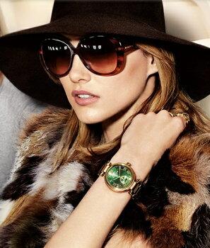 マイケルコースMichaelKorsWomen'sMK6065SkylarEmeraldGreenDialGold-toneLadiesWatch2014AWモデルレディース腕時計正規輸入品【メーカー保証付】