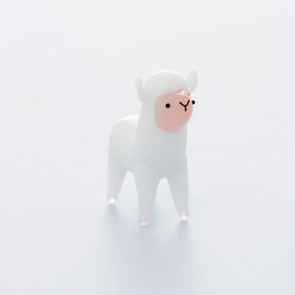 ジェルキャンドル用ガラス細工アルパカ(ホワイト)ジェルキャンドルゼリーキャンドルガラス装飾キット材料