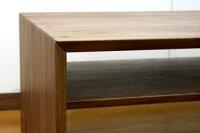 センターテーブル/ボルドー110ウォールナット棚板