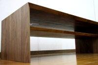 センターテーブル/ボルドー110ウォールナット下から