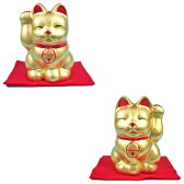 金箔貼 招き猫置物2号「まねき猫(右手/左手)(全2種)」【RCP】 02P06Aug16