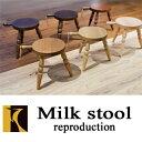 キツツキのマークの飛騨産業 Milk stool(ミルクスツール) reproduction SD243N SD243B ナラ材 ブナ材 高さ29センチ 作業椅子 置き台 花台 壁掛け カンブリア宮殿の写真