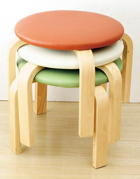 【あす楽】【当店在庫限り】丈夫なスツール 木製椅子(ロータイプ) 同色5脚セット アイボリー、オレンジ、グリーンからお選びいただけます。 軽量 収納 木製 オットマン ネイル  フットケア 施術 イス ロースツール エステ 足もみ クイック 整体 指圧 マッサージ もみ処