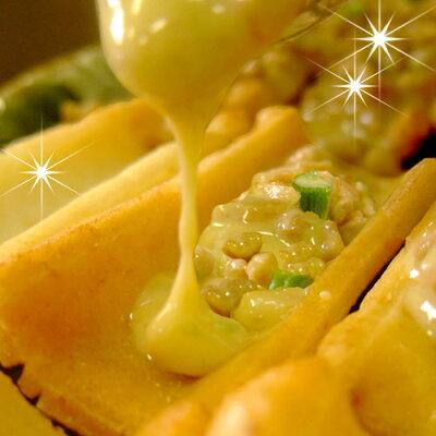 ねぎ入り 納豆おかき