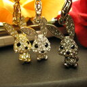 [free shipping by an email service!] Glitter ☆ Swarovski Kira rabbit straps [RABBIT STRAP] more than ♪ where a neck swing is cute [68% OFF!] [half price or less] [rabbit strap] [only 1,000 yen!] [include the postage] [smartphone pierced earrings] [P02dec12] [RCP]