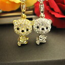[free shipping by an email service!] Glitter ☆ Swarovski Kira bear strap [68% OFF!] more than neck swing of cute ♪ [half price or less] [trial set] [only 1,000 yen!]